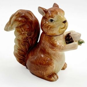 Vtg Squirrel Creamer Thanksgiving Holiday Dinner